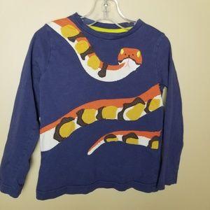 Mini Boden Snake Applique Long Sleeve Tshirt